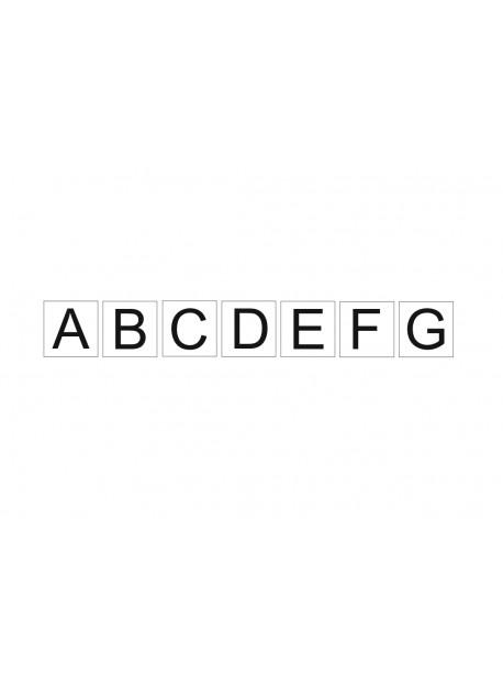 Étiquette série lettres alphabet