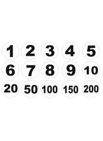 Étiquette numéro objet