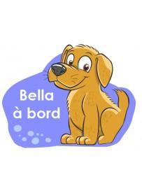 Étiquette personnalisée chien à bord