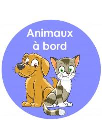 Étiquette personnalisée animaux à bord