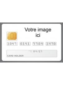Étiquette personnalisée carte bancaire CB