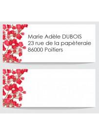 Étiquette adresse enveloppe