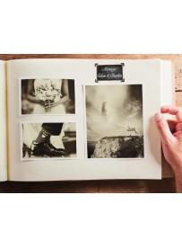 Étiquette texte personnalisé album photo