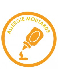Sticker allergie moutarde