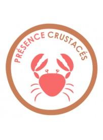 Sticker présence allergène crustacés