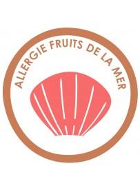 Sticker allergie coquillages