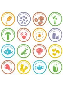Planche stickers allergène