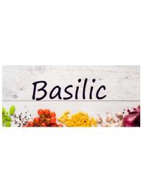 Étiquette Basilic pots et bocaux