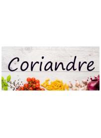 Étiquette Coriandre pots et bocaux