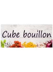 Étiquette Bouillon Cube pots et bocaux