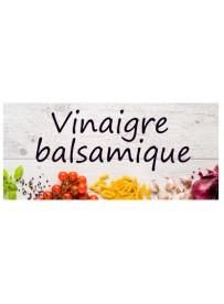 Étiquette Vinaigre balsamique bouteille
