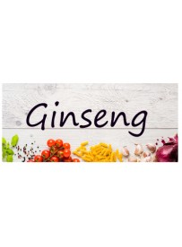 Étiquette Ginseng pots et bocaux