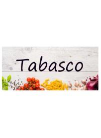 Étiquette Tabasco bouteille