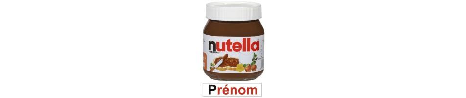 Étiquette personnalisée pour pot de Nutella