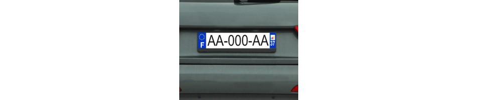 Sticker plaque auto personnalisé