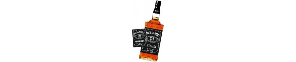 Étiquette bouteille alcool personnalisée